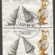 Sellos: ALEMANIA - 2008 - 500 ANIV. DEL CUMPLAÑOS DE WENZEL JAMNITZER 1508-1585 - ORFEBRE - MI:2639 - USADO. Lote 261241195