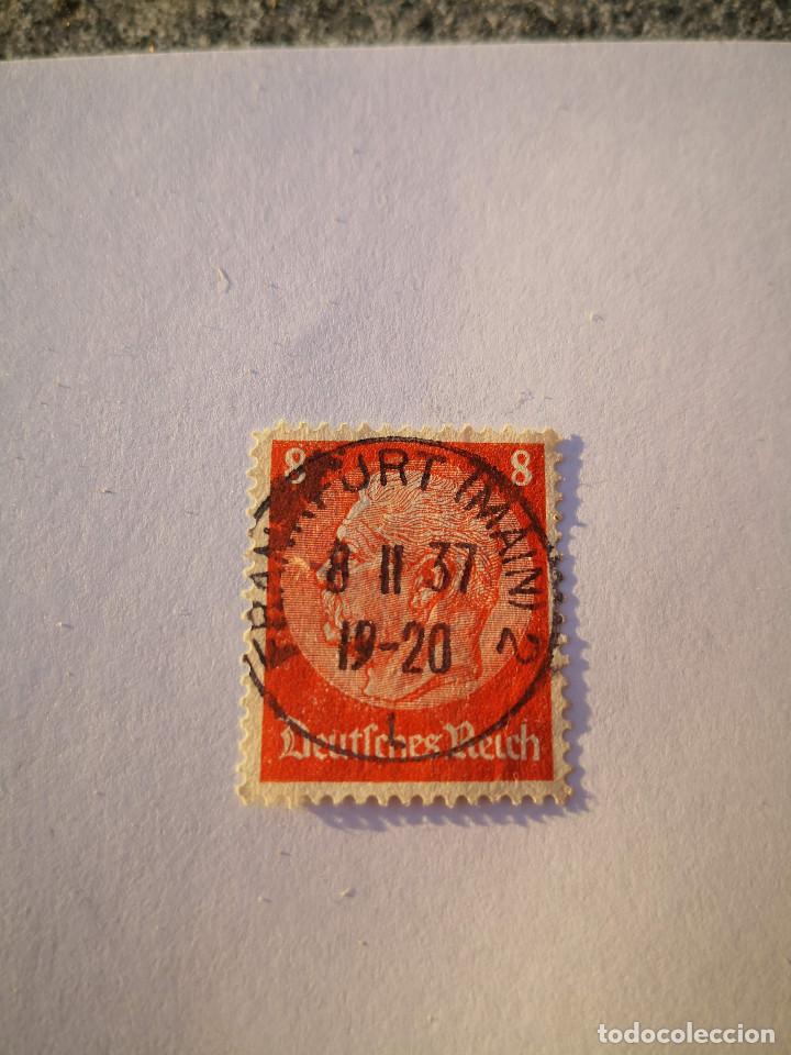 SELLO ALEMAN, DEUTSCHES REICH, 8 HINDENBURG 1936, (Sellos - Extranjero - Europa - Alemania)