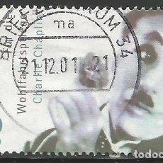 Sellos: ALEMANIA - 2001 - CHARLIE CHAPLIN - BIENESTAR - USADO. Lote 261867960