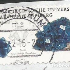 Sellos: ALEMANIA - 2015 - 250 AÑOS DE LA UNIVERSIDAD TÉCNICA DE LA BERGAKADEMIE FREIBERG - USADO - MI: 3198. Lote 261974815