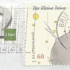 Sellos: ALEMANIA - 2014 - EL PEQUEÑO PRÍNCIPE DE ANTOINE DE SAINT-EXUPERY - USADO - MI: 3104 - CON PAPEL. Lote 261978215