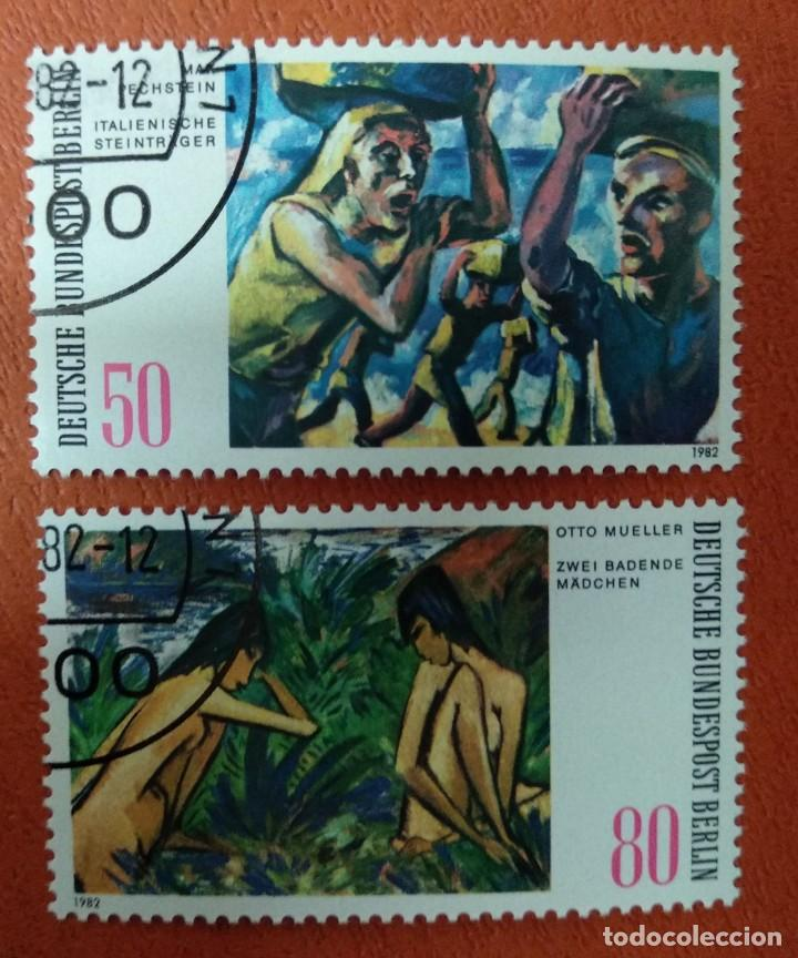 ALEMANIA BERLIN 1982. MODERN PAINTINGS FROM BERLIN COLLECTIONS (Sellos - Extranjero - Europa - Alemania)