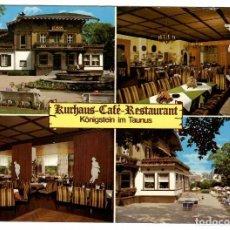 Sellos: POSTAL KURHAUS CAFÉ-RESTAURANT, KÖNIGSTEIN IM TAUNUS (ALEMANIA). CIRCULADA EN 1986. BONITO SELLO.. Lote 262823950