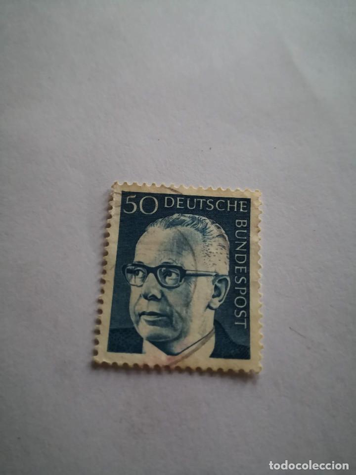SELLO ALEMAN, DEUTSCHE BUNDESPOST, 50 GUSTAV, AÑO 1967 (Sellos - Extranjero - Europa - Alemania)