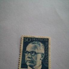 Sellos: SELLO ALEMAN, DEUTSCHE BUNDESPOST, 50 GUSTAV, AÑO 1967. Lote 262966740