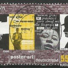 Sellos: ALEMANIA - FEDERAL - EUROPA 2003 - POSTER ART - MI 2336 - USADO CON ESTAMPILLA CENTRAL. Lote 263159675