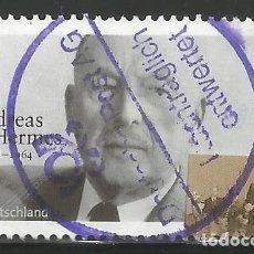 Sellos: ALEMANIA - 2003 - MI 2354 - ANDREAS HERM - USADO - TRATAMIENTO SIGUIENTE CON SELLO MORADO ESPECIAL. Lote 263162300