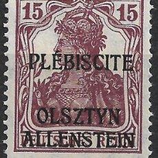 Sellos: ALEMANIA ALLENSTEIN 1920 MICHEL 4B * - 1/42. Lote 264287652