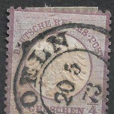 Sellos: ALEMANIA 1872 MICHEL 1 USADO 120 € - 18/8. Lote 264448974