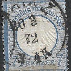 Sellos: ALEMANIA 1872 MICHEL 10 USADO 120 € - 18/8. Lote 264453039