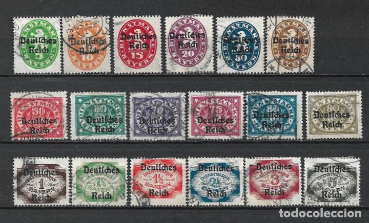 ALEMANIA REICH 1920 MICHEL 34/51 USADO 75 € - 2/19 (Sellos - Extranjero - Europa - Alemania)