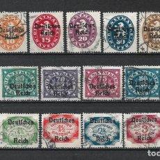 Sellos: ALEMANIA REICH 1920 MICHEL 34/51 USADO 75 € - 2/19. Lote 264745399