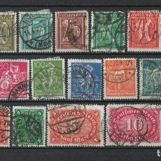 Sellos: ALEMANIA REICH 1921 MICHEL 158/176 USADO 75 € - 2/19. Lote 264746019