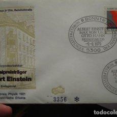Sellos: ALBERT EINSTEIN - ALEMANIA - GERMANY- DEUTSCHLAND - SOBRE PRIMER DIA - AÑO 1979. Lote 265394079