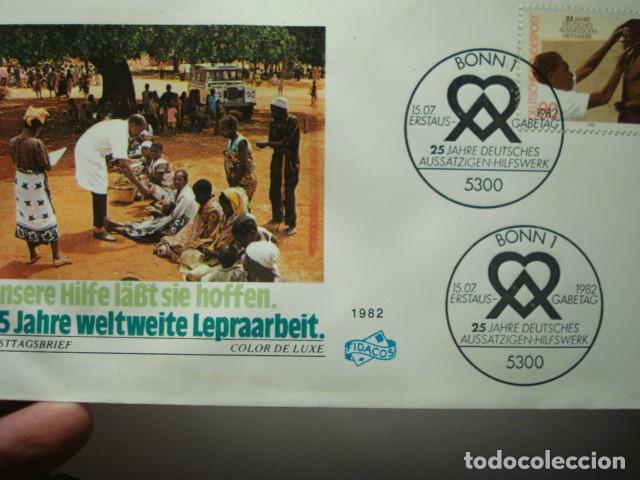 LEPRA - ALEMANIA - GERMANY- DEUTSCHLAND - SOBRE PRIMER DIA - AÑO 1982 (Sellos - Extranjero - Europa - Alemania)