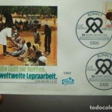 Francobolli: LEPRA - ALEMANIA - GERMANY- DEUTSCHLAND - SOBRE PRIMER DIA - AÑO 1982. Lote 265394104
