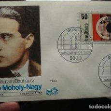 Sellos: LASZLO MOHOLY NAGY - ALEMANIA - GERMANY- DEUTSCHLAND - SOBRE PRIMER DIA - AÑO 1983. Lote 265394149