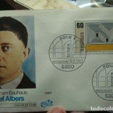 Sellos: JOSEF ALBERS - ALEMANIA - GERMANY- DEUTSCHLAND - SOBRE PRIMER DIA - AÑO 1983. Lote 265394164