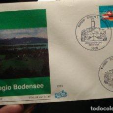 Sellos: EUREGIO BODENSEE - ALEMANIA - GERMANY- DEUTSCHLAND - SOBRE PRIMER DIA - AÑO 1993. Lote 265394189