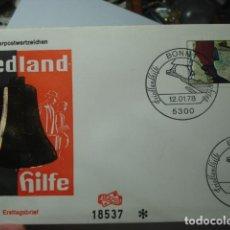 Sellos: FRIEDLAND HILFE - ALEMANIA - GERMANY- DEUTSCHLAND - SOBRE PRIMER DIA - AÑO 1781. Lote 265661354