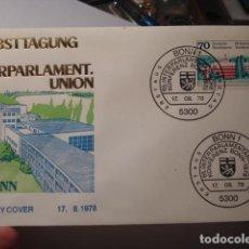 Sellos: INTERPARLAMENT UNION - ALEMANIA - GERMANY- DEUTSCHLAND - SOBRE PRIMER DIA - AÑO 1978. Lote 265661384
