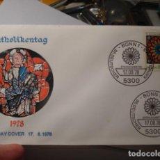 Sellos: AÑO DEL CATÓLICO - ALEMANIA - GERMANY- DEUTSCHLAND - SOBRE PRIMER DIA - AÑO 1978. Lote 265661409