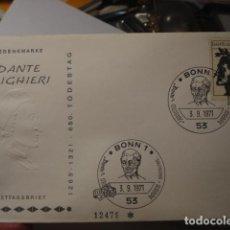 Sellos: DANTE ALIGHIERI - ALEMANIA - GERMANY- DEUTSCHLAND - SOBRE PRIMER DIA - AÑO 1971. Lote 265661574