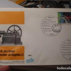 Sellos: ANLAGENBAU MASCHINEN - ALEMANIA - GERMANY- DEUTSCHLAND - SOBRE PRIMER DIA - AÑO 1992. Lote 265661729