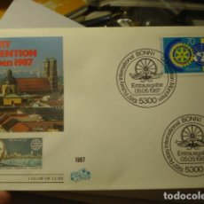 Sellos: ROTARY CONVENTION ROTARIO - ALEMANIA - GERMANY- DEUTSCHLAND - SOBRE PRIMER DIA - AÑO 1987. Lote 265661759