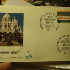 Sellos: MITEINANDER LEBEN - ALEMANIA - GERMANY- DEUTSCHLAND - SOBRE PRIMER DIA - AÑO 1994. Lote 265661774