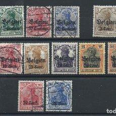"""Francobolli: BELGIQUE """"OCCUPATION ALLEMANDE"""" LOT 15 TP OBL/** (FU ET MNH) 1914-17 (LOT I). Lote 266843399"""