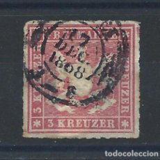 Francobolli: ALLEMAGNE - WURTEMBERG N°31 OBL (FU) 1866 - ARMOIRIES. Lote 267165774