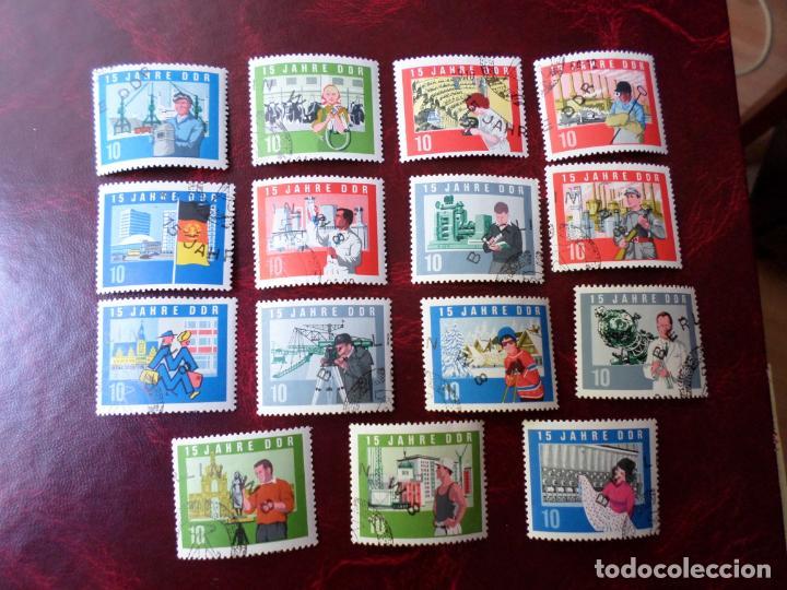*ALEMANIA, DDR, 1964, 15 ANIVERSARIO DE LA REPUBLICA, YVERT 762/76 (Sellos - Extranjero - Europa - Alemania)