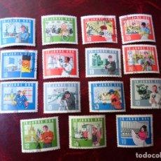 Francobolli: *ALEMANIA, DDR, 1964, 15 ANIVERSARIO DE LA REPUBLICA, YVERT 762/76. Lote 267838279
