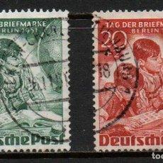 Sellos: SERIE COMPLETA DE SELLOS USADOS DE BERLÍN -DÍA DEL SELLO-, AÑO 1951. Lote 268413644