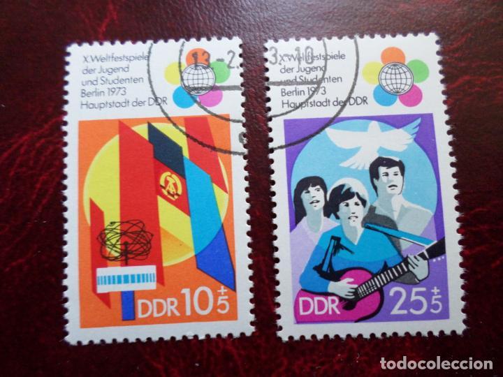 *ALEMANIA, DDR, 1973, 10 FESTIVAL MUNDIAL DE LA JUVENTUD Y ESTUDIANTES, YVERT 1527/28 (Sellos - Extranjero - Europa - Alemania)