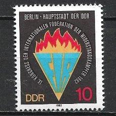 Sellos: ALEMANIA DDR 1982 SERIE COMPLETA ** MNH - 2/43. Lote 268910264