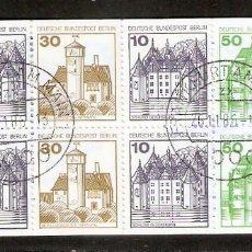 Sellos: ALEMANIA BERLIN. 1980. CARNET H-BLATT 19. Lote 268911484