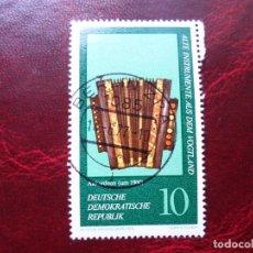Sellos: *ALEMANIA, DDR, 1977, INSTRUMENTOS MUSICALES ANTIGUOS, YVERT 1900. Lote 269204898