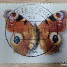 Timbres: ALEMANIA 2005. PEACOCK BUTTERFLY (INACHIS IO). Lote 269262248