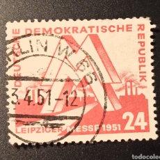 Sellos: ESCASO SELLO REPÚBLICA DEMOCRÁTICA ALEMANA (RDA/DDR) DEL AÑO 1951 SCOTT #77, VALOR CATÁLOGO 9€. Lote 269420053