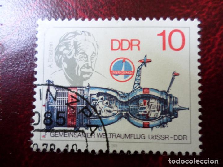 *ALEMANIA, DDR, 1978, COOPERACION ESPACIAL URSS/RDA, A.EINSTEIN, YVERT 2029 (Sellos - Extranjero - Europa - Alemania)
