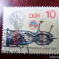 Sellos: *ALEMANIA, DDR, 1978, COOPERACION ESPACIAL URSS/RDA, A.EINSTEIN, YVERT 2029. Lote 269462013