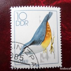 Sellos: *ALEMANIA, DDR, 1979, PAJAROS CANTORES, YVERT 2057. Lote 269463218