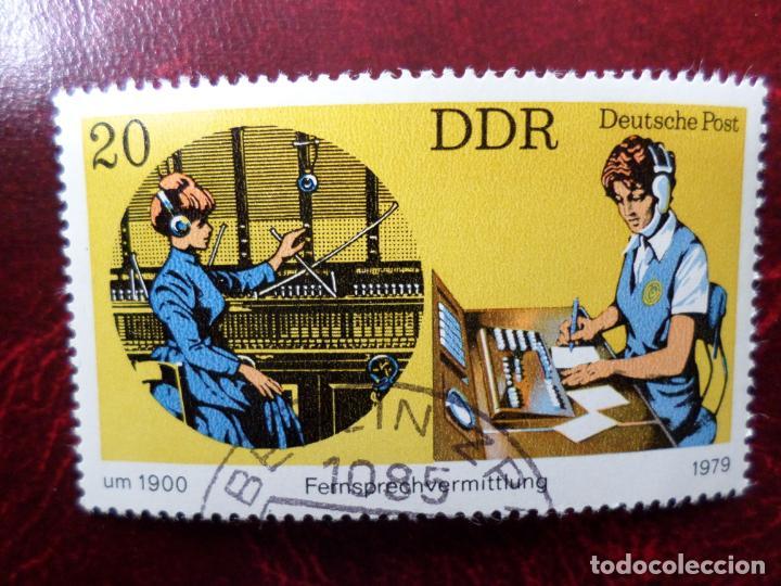 *ALEMANIA, DDR, 1979, EL TELEFONO EN 1900 Y 1979, YVERT 2068 (Sellos - Extranjero - Europa - Alemania)