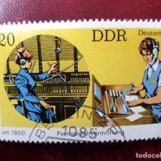 Sellos: *ALEMANIA, DDR, 1979, EL TELEFONO EN 1900 Y 1979, YVERT 2068. Lote 269464608