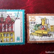 Sellos: *ALEMANIA, DDR, 1979, FERIA DE PRIMAVERA DE LEIPZIG, YVERT 2070/1. Lote 269464788