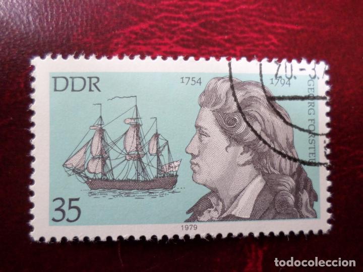 *ALEMANIA, DDR, 1979, GEORG FORSTER, YVERT 2077 (Sellos - Extranjero - Europa - Alemania)