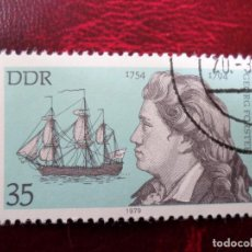 Sellos: *ALEMANIA, DDR, 1979, GEORG FORSTER, YVERT 2077. Lote 269467023