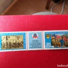 Sellos: *ALEMANIA, DDR, 1979, FESTIVAL NACIONAL DE LA JUVENTUD, YVERT 2090A. Lote 269468333